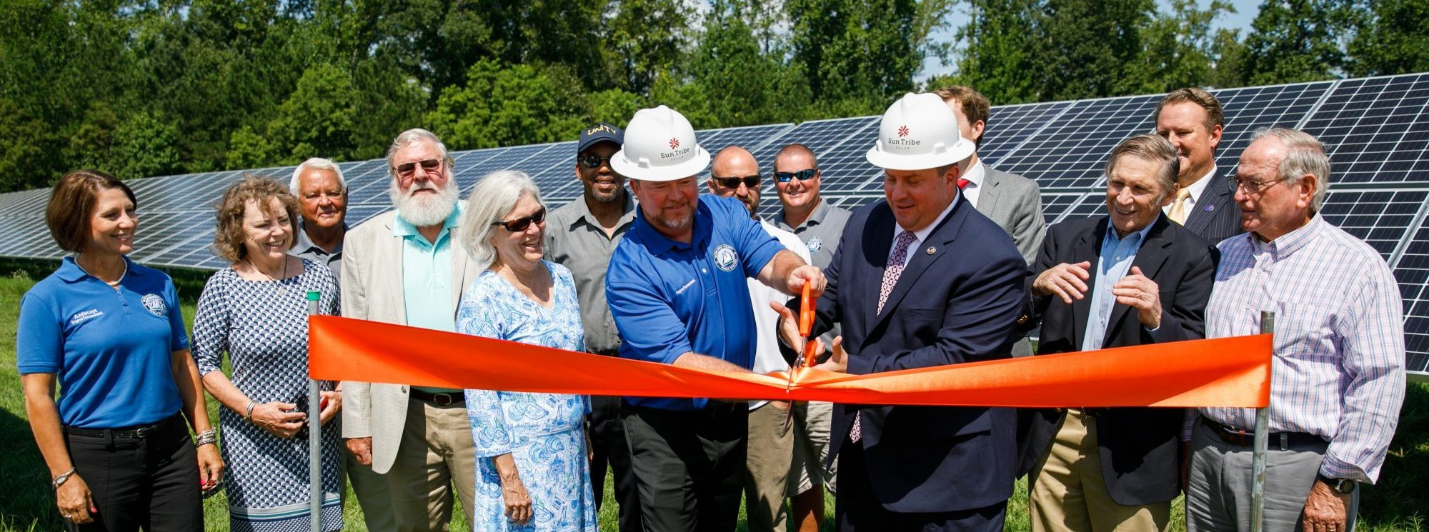 Middlesex County Virginia School Official - Ribbon Cutting for Solar System by Sun Tribe
