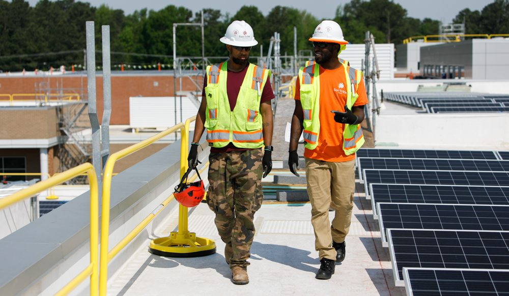 Workers employed by Sun Tribe thanks to Virginia Solar Market Growth