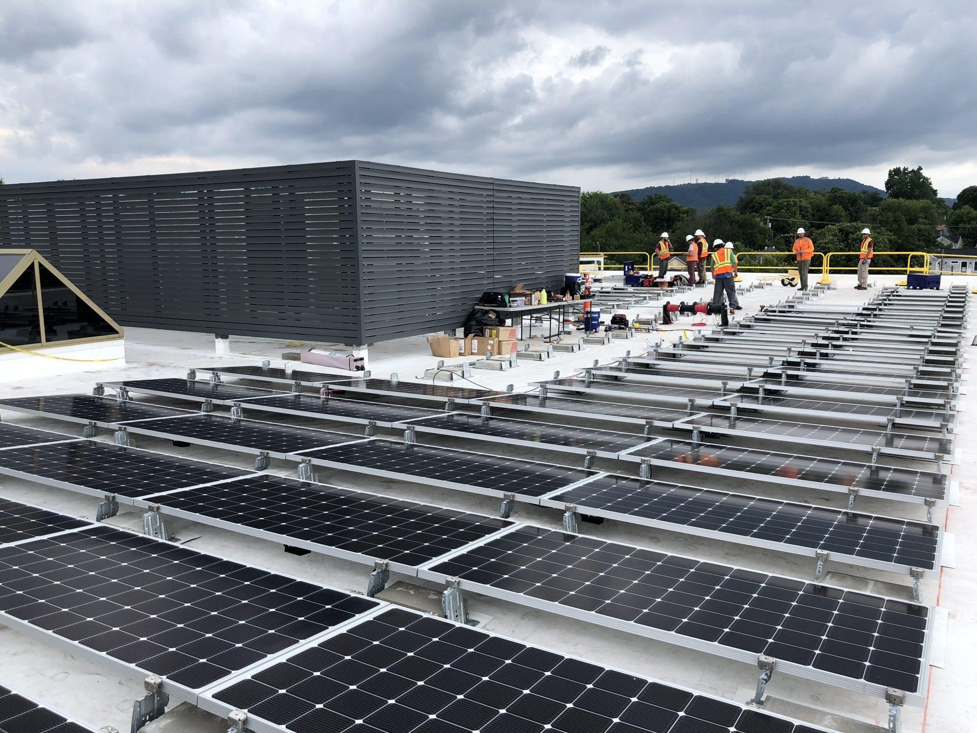 Solar System Installation by Sun Tribe's Team on Inova Solutions in Charlottesville, VA