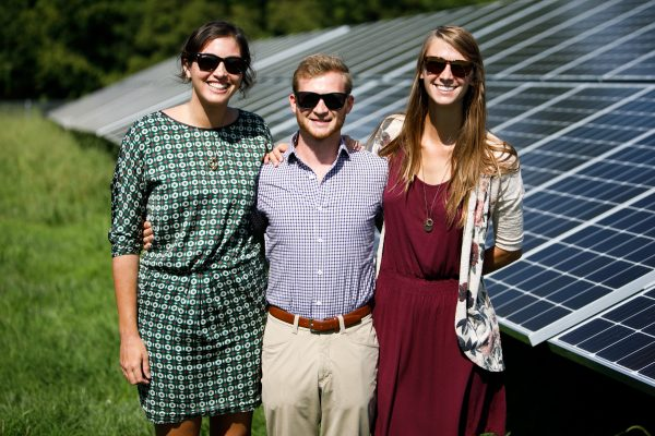 Sun Tribers at the ribbon cutting for a solar project.